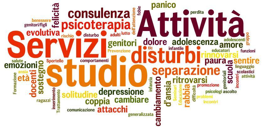 Sevizi Le Ginestre Onlus - psicoperapia e counseling, logopedia, psicomotricità, sostegno allo studio, sportello di ascolto psicologico